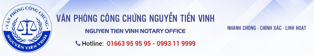 Logo Văn phòng công chứng Nguyễn Tiến Vinh